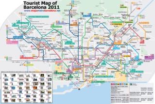 Карта Барселоны