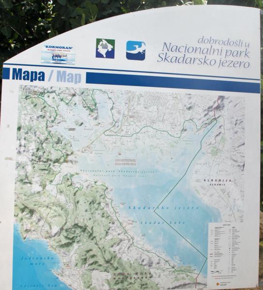 Карта Скадарского озера