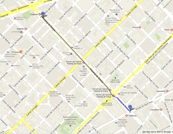 Diagonal to Catalonia