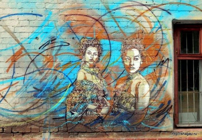 Граффити на территории Artplay