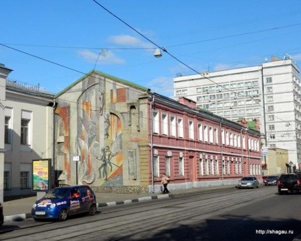 Мозаичное панно на ул. Гиляровского, д.29