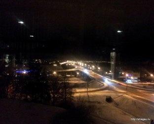 Гостиница Волга в Костроме, вид на мост