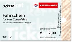 Билет на одну поездку в общественном транспорте Вены