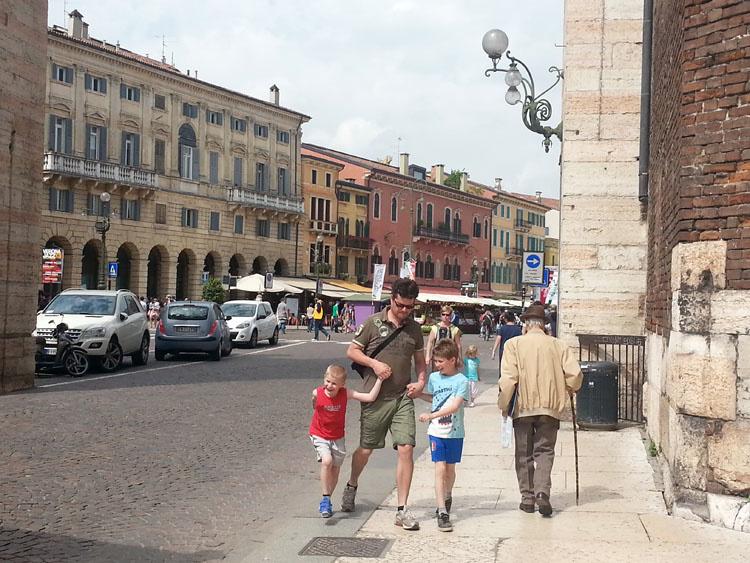 Вход в старый город Вероны