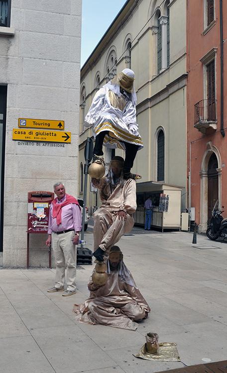 Уличные фигуры Верона