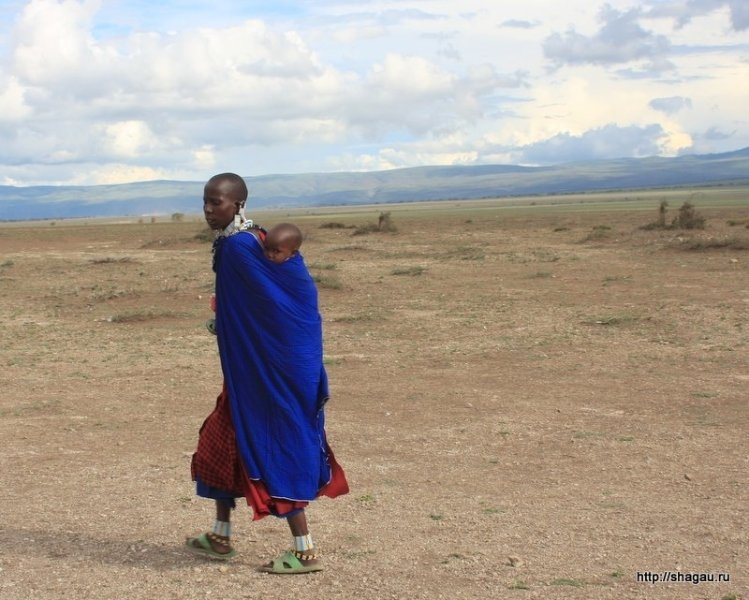 В деревне племени масаи, Танзания