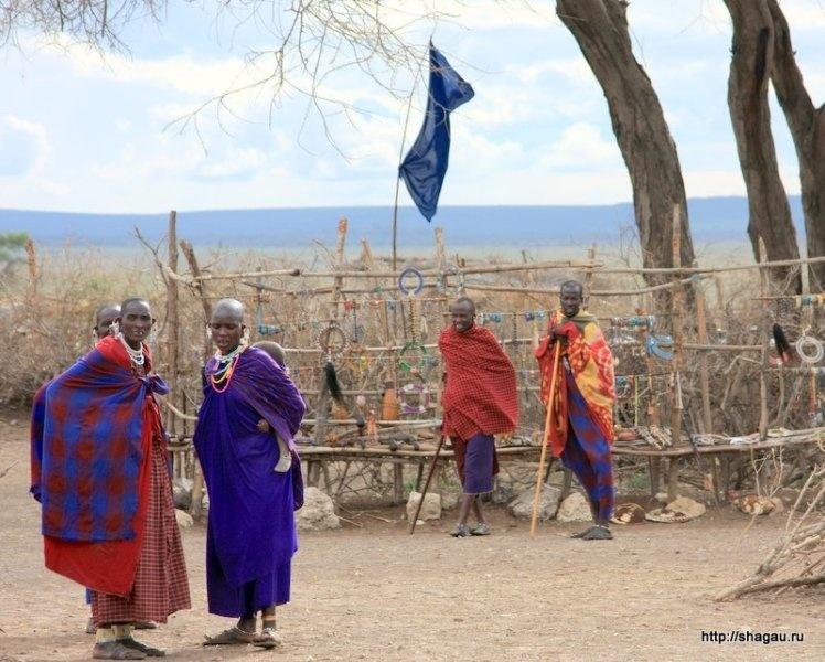 В деревне масаи, Танзания