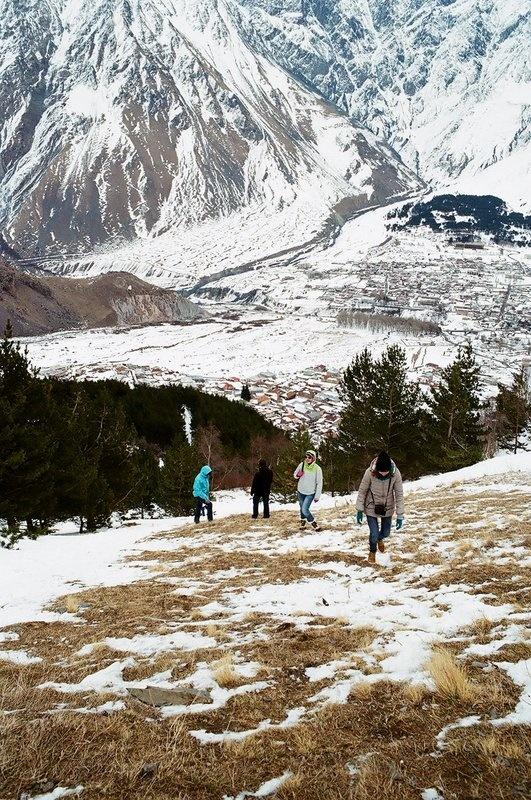 Подъем в горы, Грузия