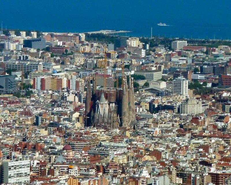 Вид на Барселону с Телебашни