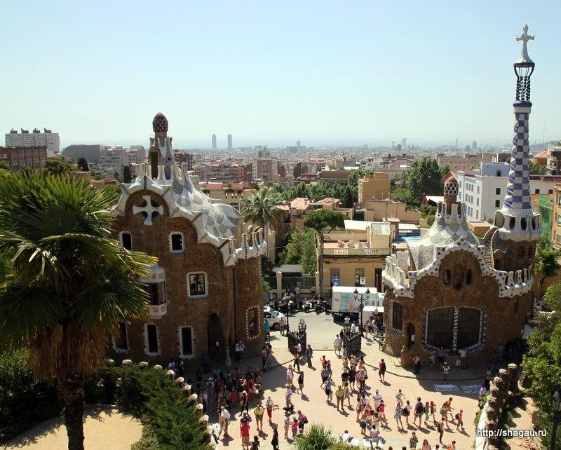 Вид на Барселону из Парка Гуэль