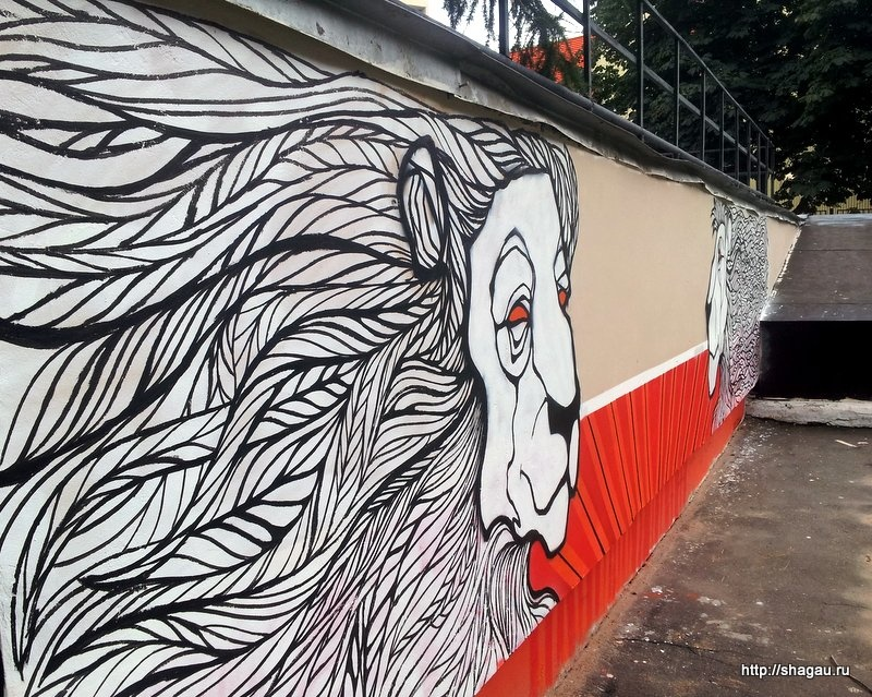 Граффити на Льва Толстого
