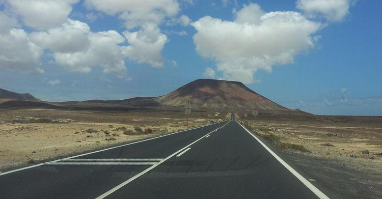 Дорога из аэропорта в Корралехо