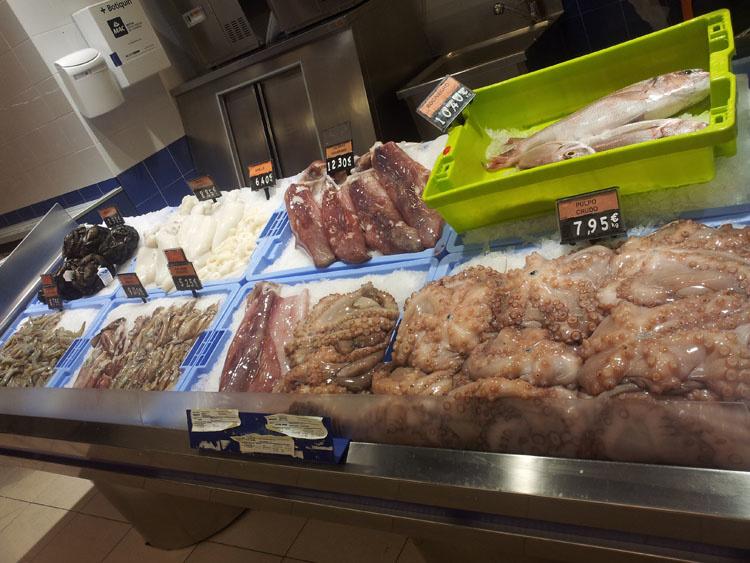 Цены на морепродукты в Mercadone