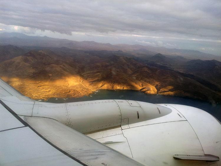 Фуэртевентура с самолета