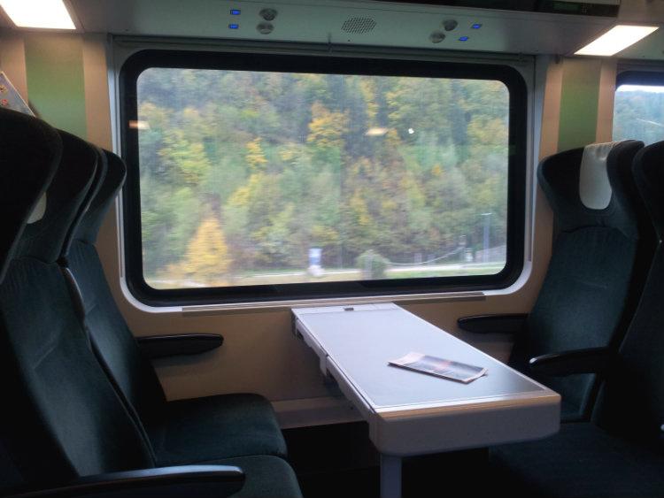 Поезд из Вены в Грац