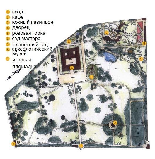 Схема сада Эггенберг
