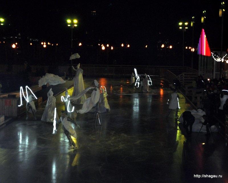 Ледовое шоу на открытии