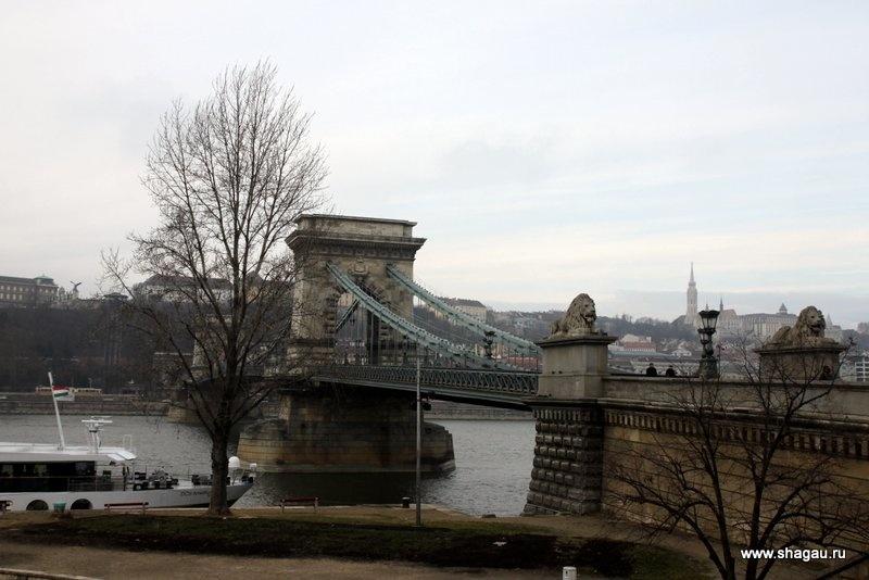 Цепной мост со львами в Будапеште