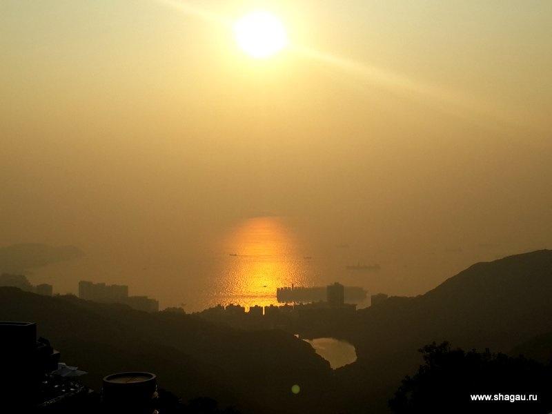 Солнце начинает садиться
