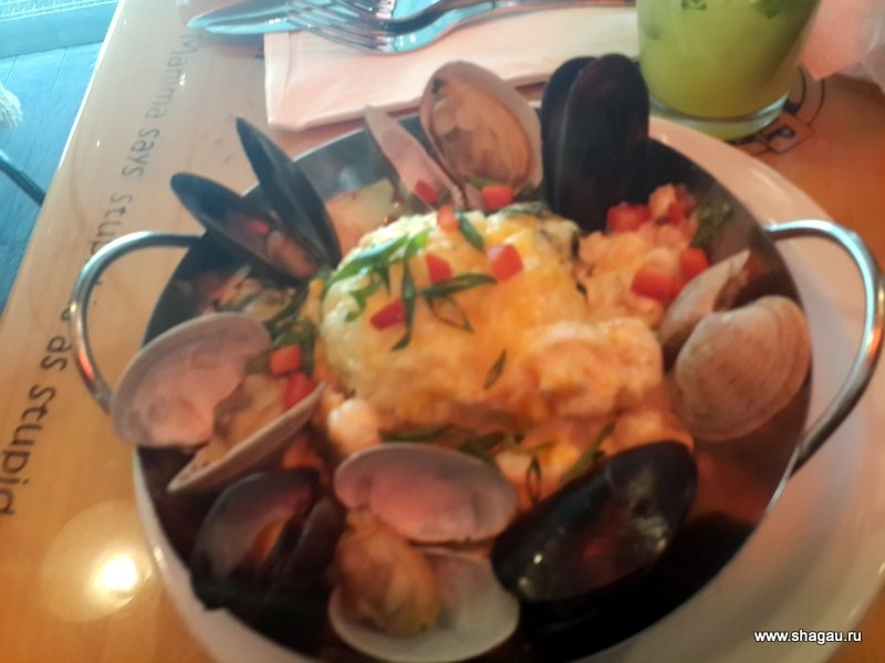 Жирный рис с морепродуктами