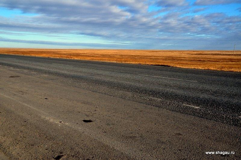 Дороги и степи Казахстана