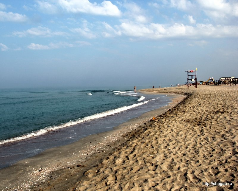 Пляжи Крыма ранним утром