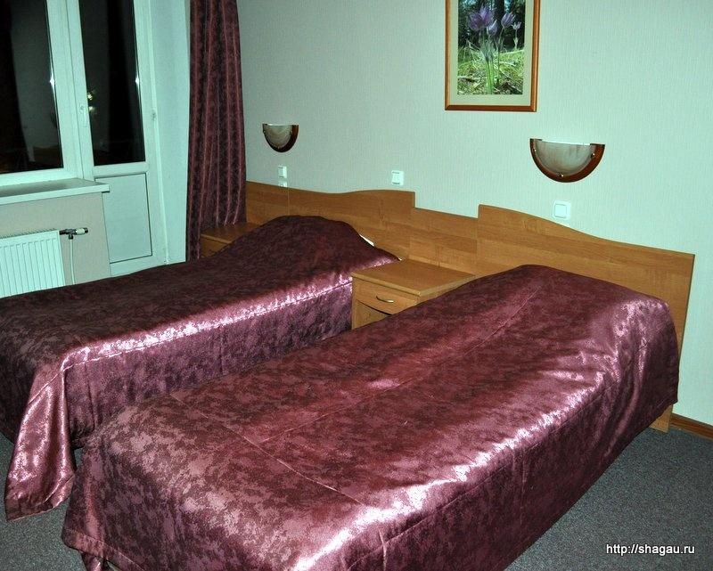 В номере гостиницы Колос в Пскове