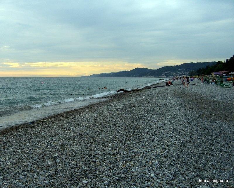Пляж в Лоо, Черноморское побережье
