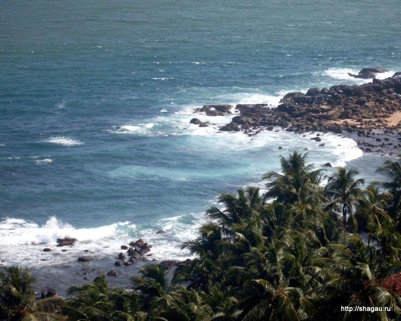 Вид с маяка Дондра на Шри-Ланке