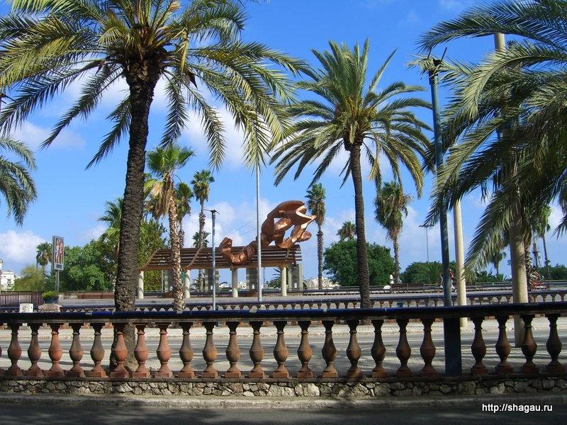 Креветка на набережной Барселоны