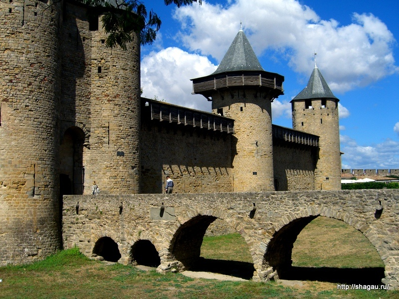 Вход в замок, Каркассон