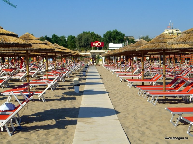 Платные пляжи Римини