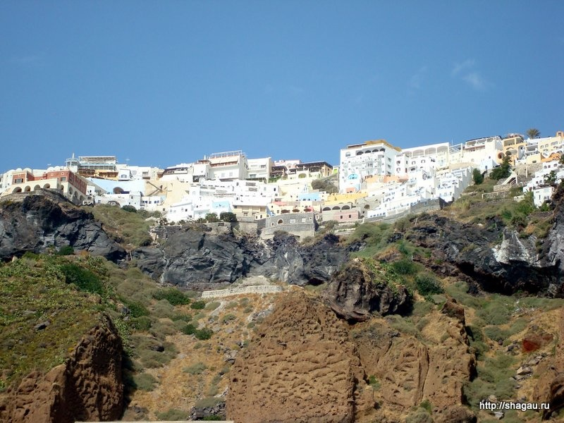 Санторини, вид с пляжа