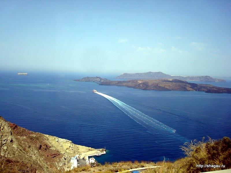 Виды с высоты острова Санторини
