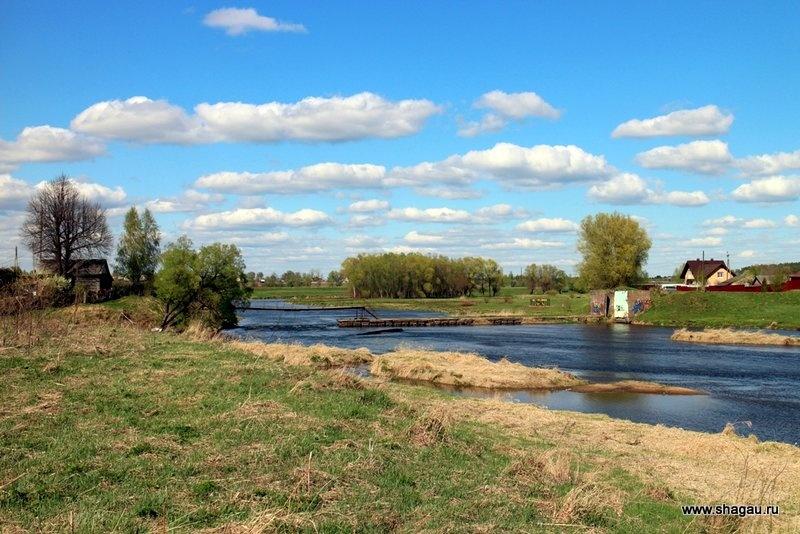 Берег Москва реки в Можайске