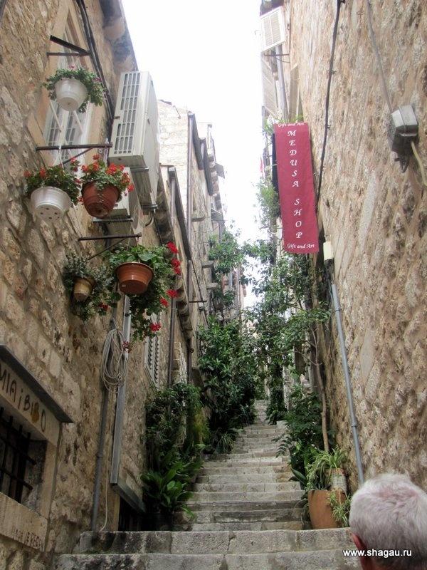 Ярусы улиц в Дубровнике