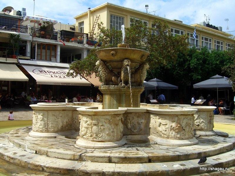 Фонтан на Львиной площади Ираклиона