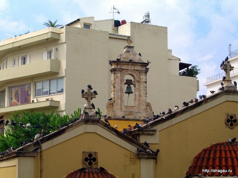 Голуби на крыши Собора Св. Екатерины