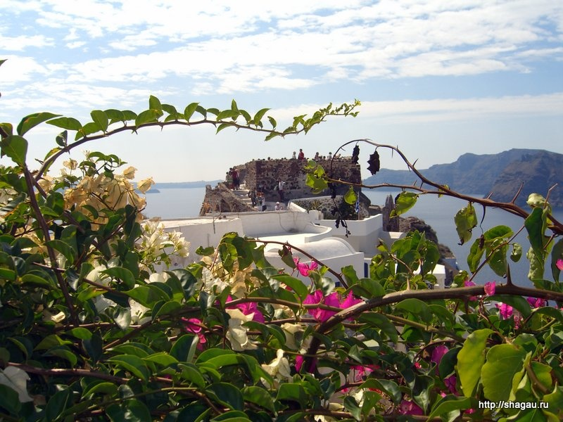 Остатки крепости на Санторини