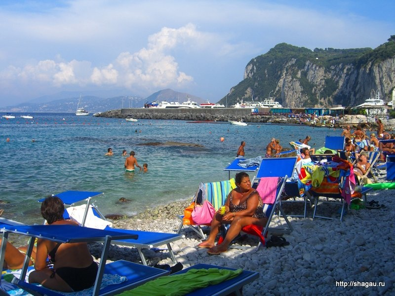 Пляжи острова Капри