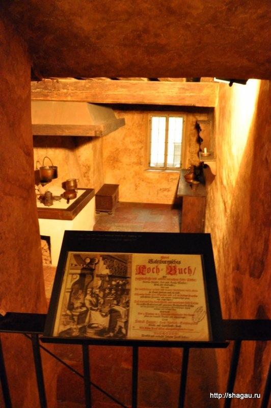 Помещение кухни в доме Моцарта