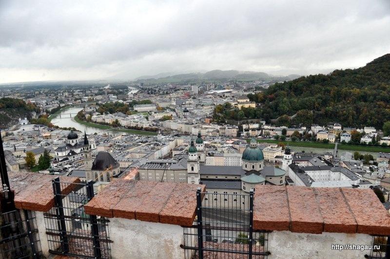 Вид на Зальцбург с самой высокой точки
