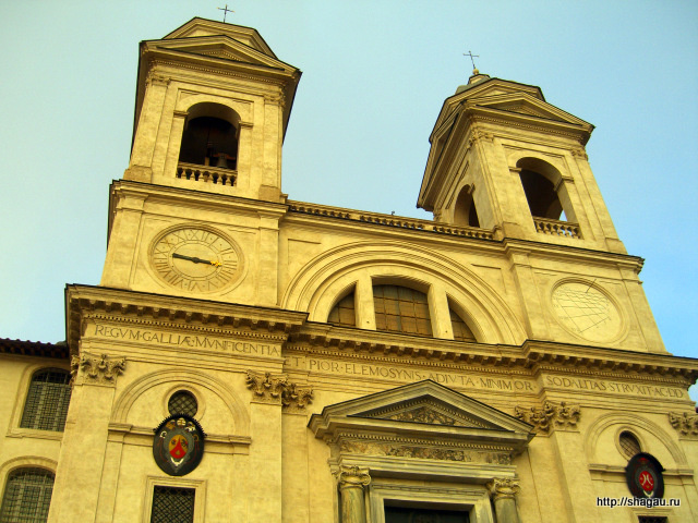 Рим. Церковь Тринита-деи-Монти