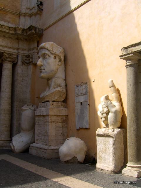 Рим. Части, оставшиеся от монумента императора Константина