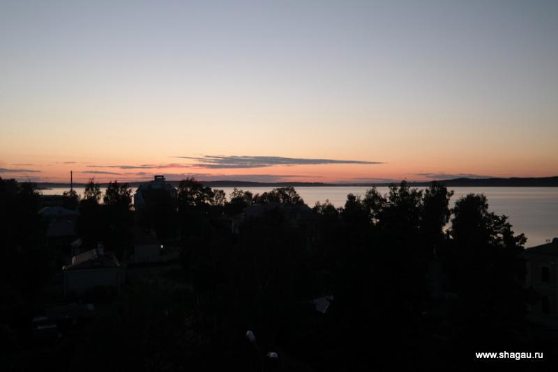Закат на Онежском озере
