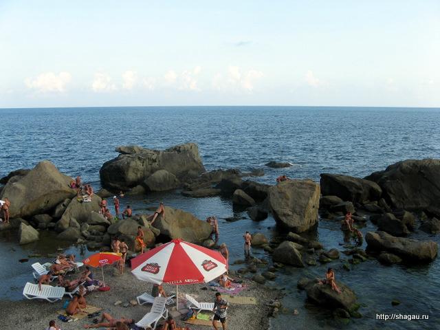 Алупка, Крым. Пляжи в Алупке