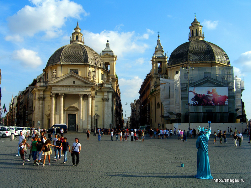 Рим. Пьяцца дель Пополо
