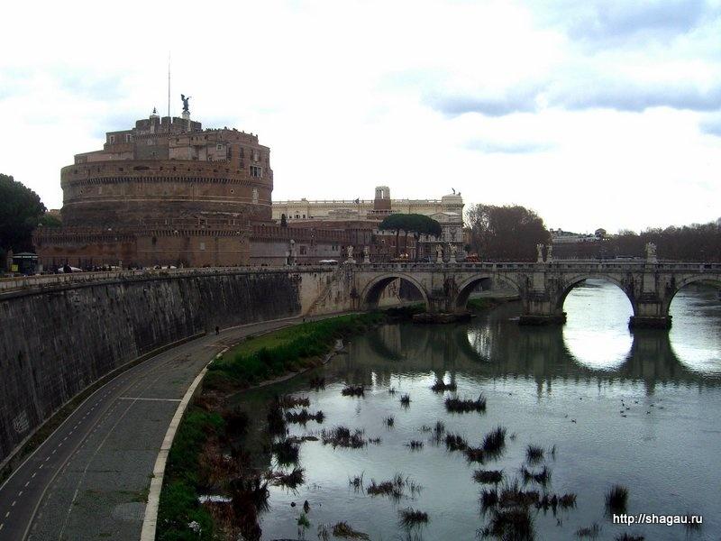 Рим. Замок Сан Анджело и мост ангелов