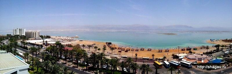 Вид на мертвое море из окна отеля