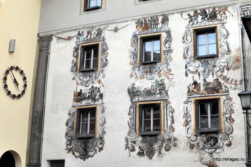Фрески на домах в Берхесгадене